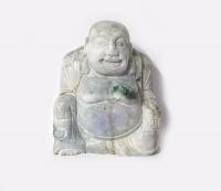 Buddha Statue aus Jade ( Jadeit ) / Myanmar - Burma - ca. 100 x 85mm ca. 970Gramm