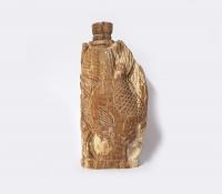 versteinertes Holz Räucherstäbchenhalter ca. 11 x 5 cm