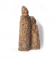 versteinertes Holz Räucherstäbchenhalter ca. 12 x 6,5 cm / Einzelstück