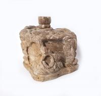 versteinertes Holz Räucherstäbchenhalter ca. 8 x 8 cm / Einzelstück