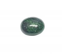 Chloromelanit - Jade Cabochon aus Myanmar / Burma ca. 25x20 mm