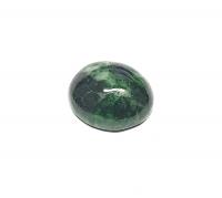 Chloromelanit - Jade Cabochon aus Myanmar / Burma ca. 22x18 mm