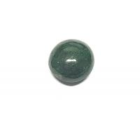 Chloromelanit - Jade Cabochon aus Myanmar / Burma ca. 17 mm