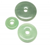 3er Set 50 mm Aventurin grün - Donut - Anhänger