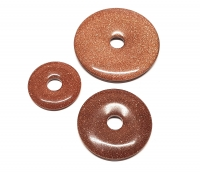 3er Set 40 mm Goldfluss (syn.) - Donut - Anhänger