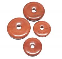 3er Set 30 mm roter Jaspis - Donut - Anhänger