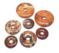 3er Set 40 mm Breckzienjaspis - Donut - Anhänger