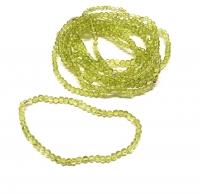 Peridot Kugelarmbandca. 3-4 mm / ca. 19 cm