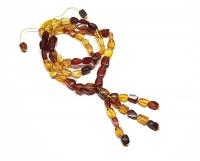 Bernstein Halskette endlos ca. 7 mm / ca. 60 mm - Einzelstück mit rotem Bernstein