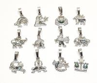 3er Set Abalone Sternzeichen Anhänger an Öse ca. 23 x 15 mm