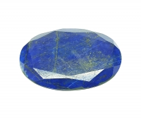 Lapislazuli oval facettiert ca. 59 x 40 mm