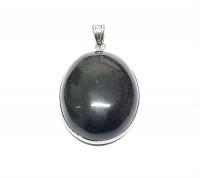 ObsidianAnhängeroval gefasstca. 55 x 34 mm - Einzelstück