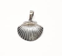 Muschel Anhänger aus 925 Silber ca. 24x18 mm