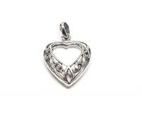 Herz Anhänger aus 925 Silber ca. 26 x 18 mm