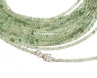 grüner Achat Kugelkettefacettiert ca. 2 mm/ ca. 45 cm mit Silberkarabiner