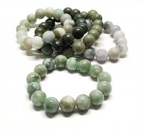 Jadeit - Jade Kugelarmband ca. 13-14 mm / ca. 19-20 cm