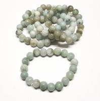 Jadeit - Jade Kugelarmband hell ca. 10-11 mm / ca. 19 cm