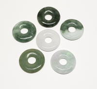 3er Set 30 mm Jade ( Jadeit ) Donut - Anhänger