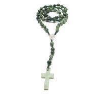 Rosenkranz aus Jade ( Jadeit ) 59 Perlen ca. 6-8 mm ca. 54-58 cm- glattes Kreuz