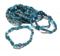Apatit blau Nuggetarmband ca. 5-7 mm / ca. 19 cm