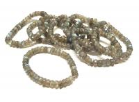 LabradoritButtonarmbandfacettiert ca.8 - 9 mm / ca.19 cm - A-Qualität