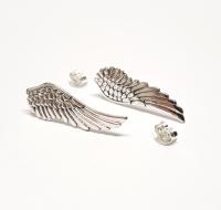 Flügel Ohrstecker aus 925 Silber ca. 30 x 10 mm