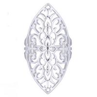 filigraner Fingerring Blumen aus 925 Silber ca. 40 x 20 mm