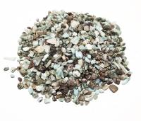 Larimar - Trommelsteine / Chips ca. 3-10 mm / ca. 500 Gramm