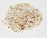 Opal weiß - Trommelsteine / Chips ca. 3-10 mm / ca. 500 Gramm