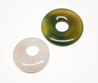2er Set 40 und 50 mm Achat DonutAnhänger - Einzelset