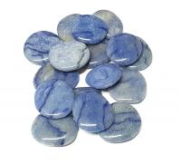 Blauquarz Scheibensteine / Taschensteine - ca. 500 gr.