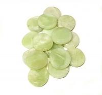 China Jade( Serpentin ) Scheibensteine / Taschensteine- ca. 500 gr.