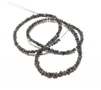 Diamant - Strang schwarz ca. 2,0 - 4,5 mm verlaufend / ca- 40 cm ca. 30,3 Carat