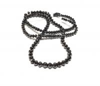 Diamant - Strang schwarz facettiert ca. 2 - 4,3 mm verlaufend / ca. 38 cm35,5 Carat - Einzelstück