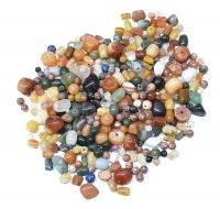 500 Gramm verschiedene Perlen in allen Farben,Größen und Formen