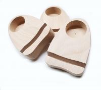 Holzständer für Teelicht & Achatplatte aus Buche Natur