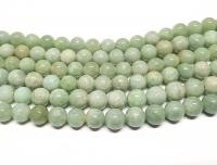 Jadeit - Jade Kugelstrang aus Burma-Jade ca. 12-13 mm / ca. 50 cm