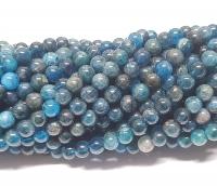 Apatit blau Kugelstrangca. 6 mm / ca. 40 cm