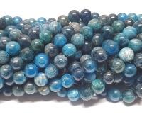Apatit blau Kugelstrangca. 8 mm / ca. 40 cm