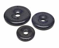 3er Set 40 mm Blaufluss (synth.) Donut Anhänger