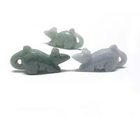 Maus / Ratte aus Jadeit ( Jade ) ca. 49 x 22 x 15 mm