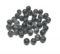 40 grau schwarze Jade Kugeln gebohrt ca. 9-11 mm