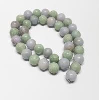 Jadeit - Jade Kugelstrang aus Burma-Jade ca. 14 mm / ca. 49 cm