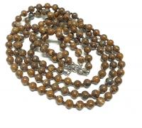 Bronzit Halsketteeinzeln geknotet ca. 8 mm / ca. 50 cm