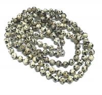 Dalmatinerjaspis Halsketteeinzeln geknotet ca. 8 mm / ca. 50 cm