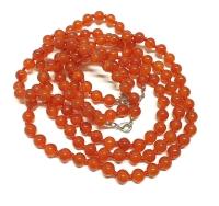 Rot - Achat Halsketteeinzeln geknotet ca. 8 mm / ca. 50 cm