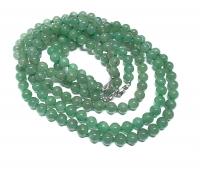 Aventurin grün Halsketteeinzeln geknotet ca. 8 mm / ca. 50 cm