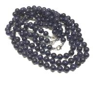 Blaufluss (syn.) Halsketteeinzeln geknotet ca. 8 mm / ca. 50 cm