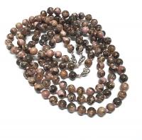 Rhodonit Halsketteeinzeln geknotet ca. 8 mm / ca. 50 cm
