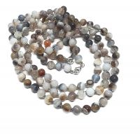 Botswana - Achat Halsketteeinzeln geknotet ca. 8 mm / ca. 50 cm